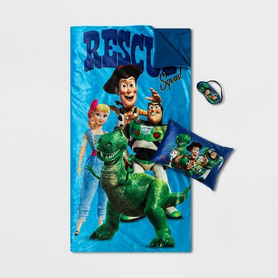 toy story pillow with eyemask and slumberbag set
