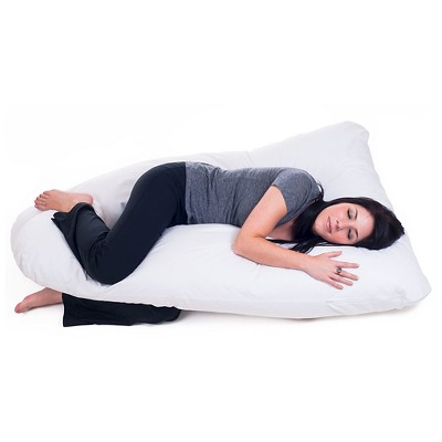 bluestone full body contour u pillow great for pregnancy white