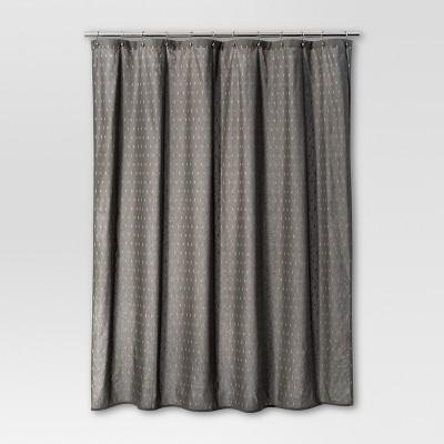 geometric shower curtain gray threshold