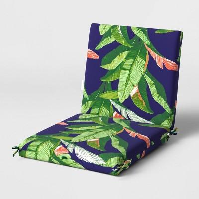 outdoor chair cushion duraseason fabric banana leaf threshold