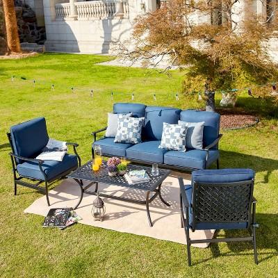 4pc outdoor patio seating set patio festival
