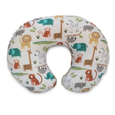 boppy original feeding and infant support pillow neutral jungle colors