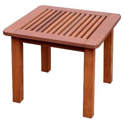 miramar square hardwood outdoor side table cinnamon brown corliving