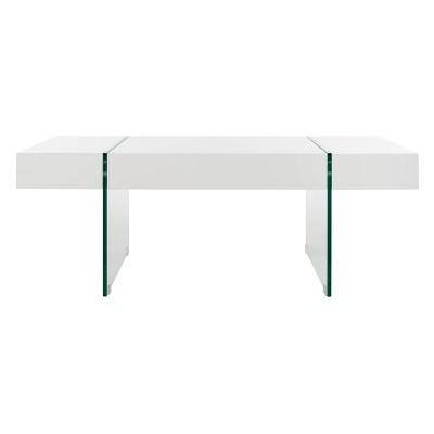 jacob glass coffee table white safavieh