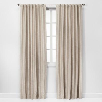 84 52 faux silk room darkening window curtain panel ivory threshold