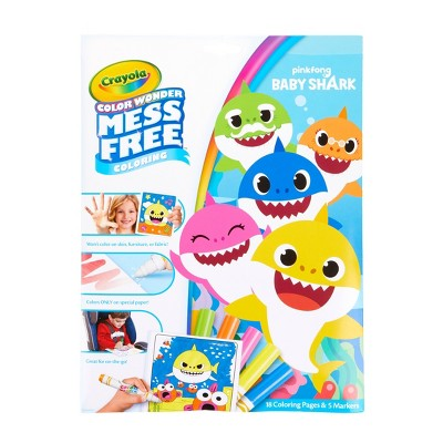 Crayola Color Wonder Baby Shark Coloring Pages Set Target