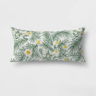 spring floral lumbar outdoor throw pillow green opalhouse