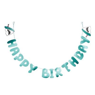 Happy Birthday Shark Banner Spritz Target