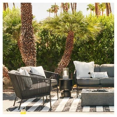black and white patio furniture