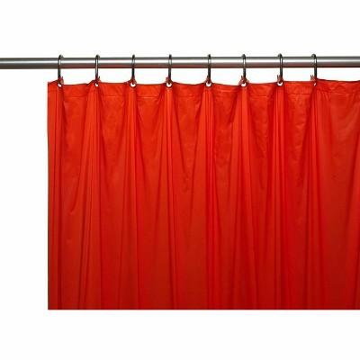 goodgram heavy duty peva shower curtain liners red