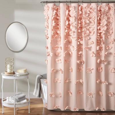 72 x72 riley shower curtain blush pink lush decor