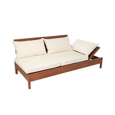 grass eucalyptus wood outdoor reclining chaise lounge chair with backrest alaterre furniture