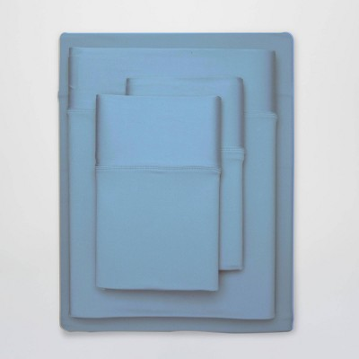 split king ultra air solid sheet set carolina blue sheex