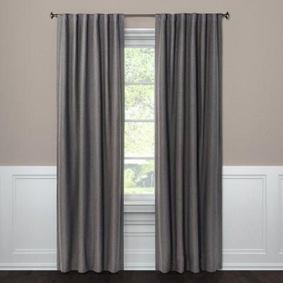 84 x50 aruba linen blackout curtain panel radiant gray threshold