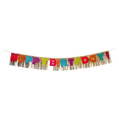 Happy Birthday Banner With Glitter Spritz Target