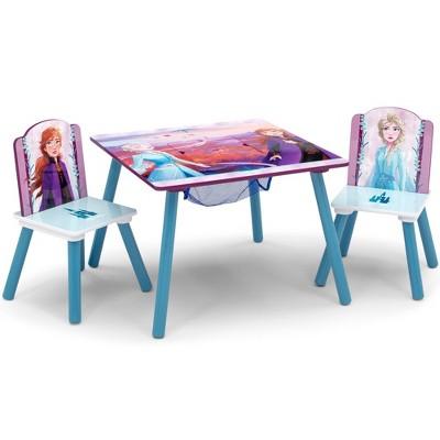 disney frozen 2 table and chair set with storage delta children