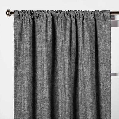 63 x42 heathered thermal room darkening curtain panel dark gray room essentials