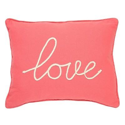 coral love throw pillow 14 x 18 homthreads
