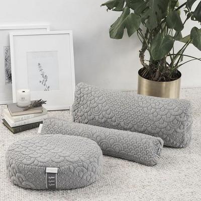 brentwood home crystal cove yoga pillow set meditation bolster and pranayama collection buckwheat fill