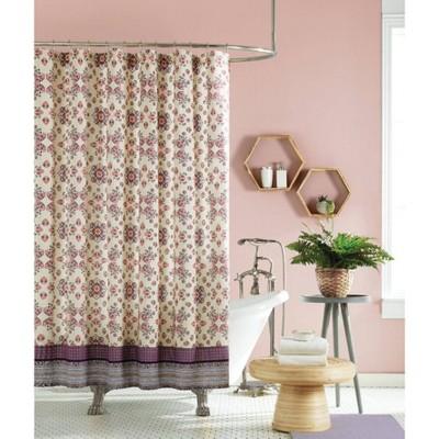lola shower curtain purple ivory jessica simpson