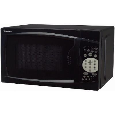 magic chef mcm770b 700 watt 0 7 cubic feet microwave with digital touch controls black