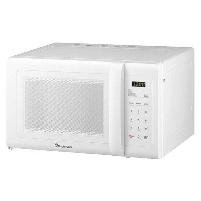 magic chef mcd993w 900 watt 0 9 cubic foot kitchen countertop microwave oven with digital touch and 10 power levels white certified refurbished