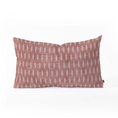 holli zollinger geometric lumbar throw pillow red deny designs