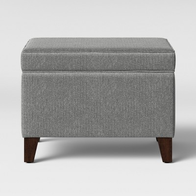 glenmont storage ottoman gray threshold