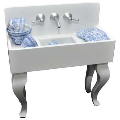 the queen s treasures vintage style wooden kitchen sink for 18 dolls