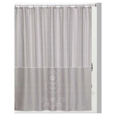 13pc royal hotel shower curtain and hook set taupe creative bath