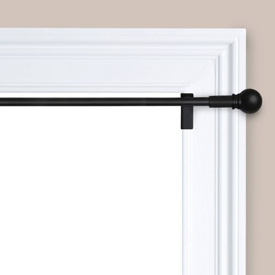 28 48 twist and shout easy install curtain rod matte black room essentials