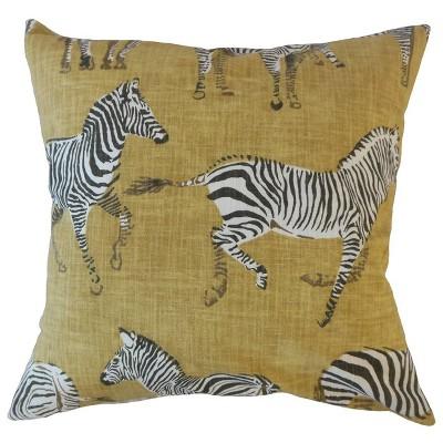 zebra print square throw pillow yellow pillow collection