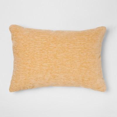 solid chenille jacquard lumbar throw pillow yellow threshold