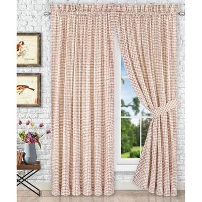 ellis curtain davins high quality 2 piece window rod pocket panel 63 x 90 red