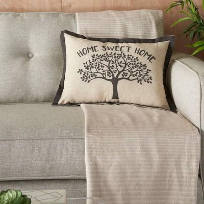 14 x20 home sweet home tree throw pillow natural kathy ireland home