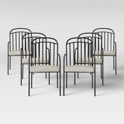 farmhouse 6pk patio dining chair linen threshold