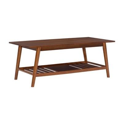 charlotte coffee table brown linon