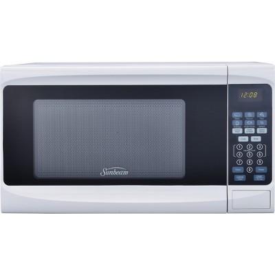 sunbeam 0 7cu ft 700 watt digital microwave oven white sgs10701