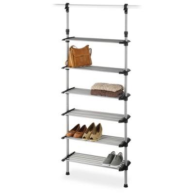 whitmor 6 shelf metal shoe rack system