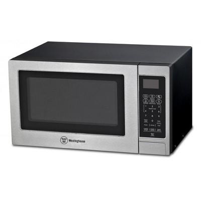 westinghouse stainless steel countertop microwave oven 900 watt 0 9 cubic feet