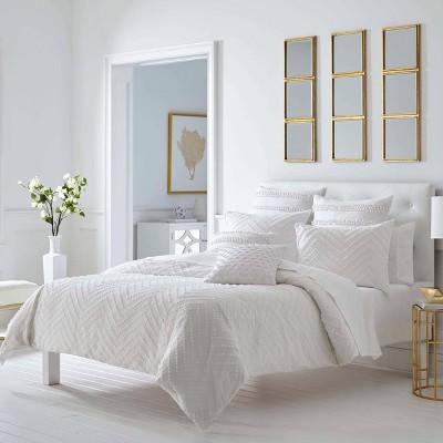 trina turk freya full queen comforter set white
