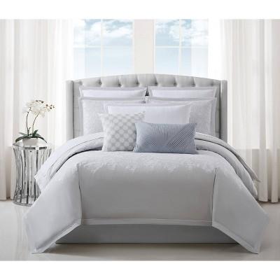 charisma celini queen comforter set gray white
