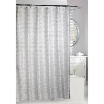 avenue road shower curtain white silver moda at home
