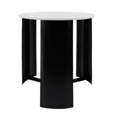 21 round marble coffee table black sagebrook home