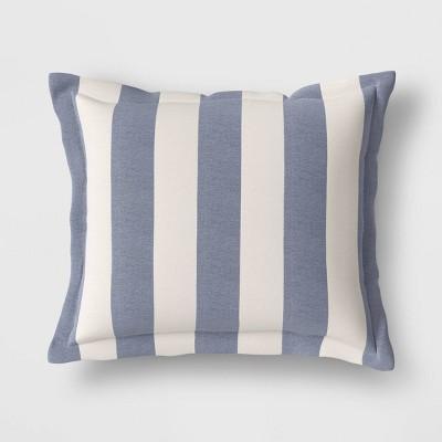 cabana stripe outdoor deep seat pillow back cushion duraseason fabric navy threshold