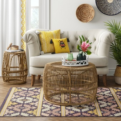 pyronia rattan cage coffee table natural opalhouse