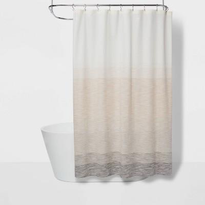 spacedye shower curtain beige ombre project 62