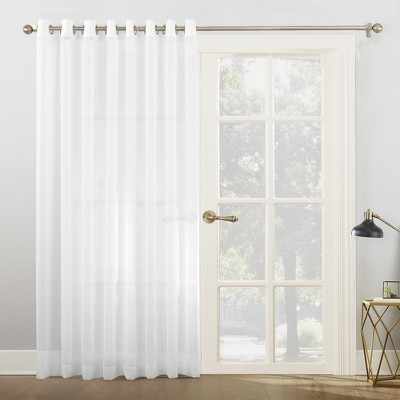 84 x100 emily sheer voile sliding door patio curtain panel white no 918