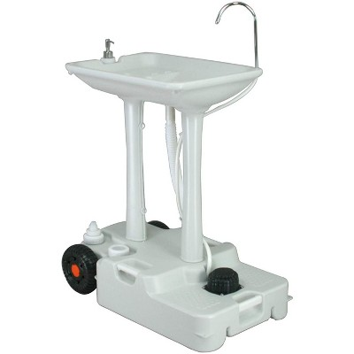 hike crew xl portable outdoor foot pump camping sink 7 gallon handwash basin