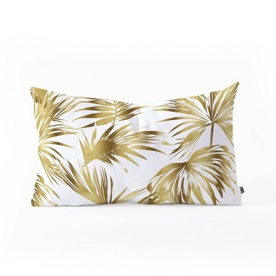 marta barragan camarasa golden palms oblong lumbar throw pillow bold gold deny designs